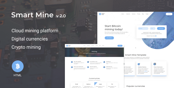 SmartMine – Crypto Mining HTML Template
