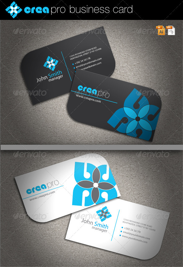 Crea Pro Business Card by Oleana | GraphicRiver