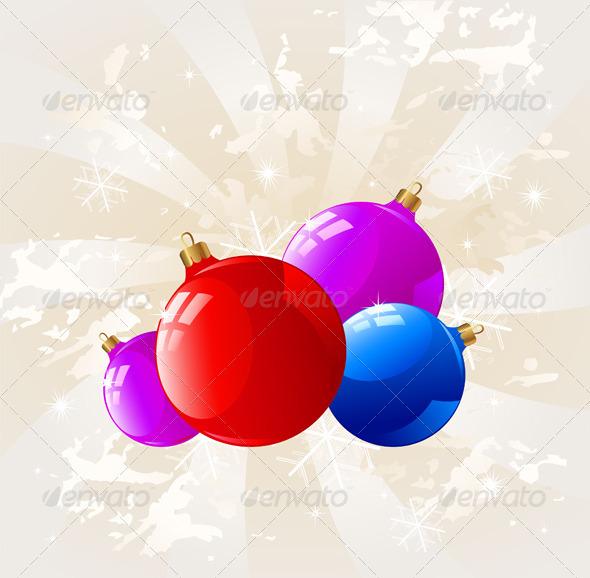 Background with Christmas Decorations  - Christmas Seasons/Holidays