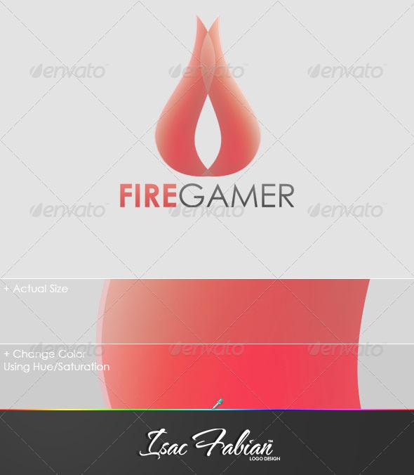 Fire Gamer Logo Template - Symbols Logo Templates