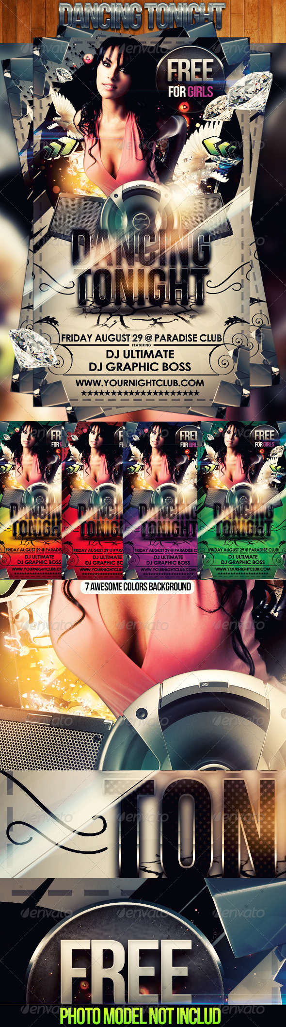 Dancing Tonight Flyer - Flyers Print Templates