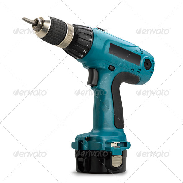 Battery drill - Stock Photo - Images