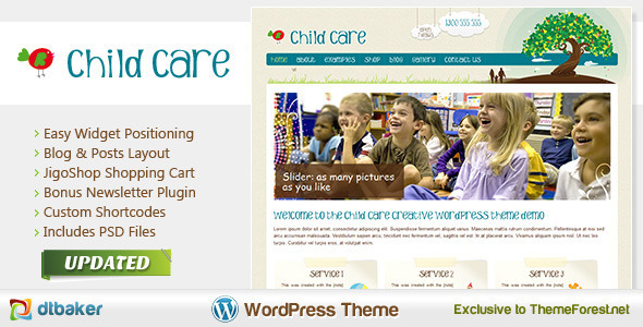 Child Care Creative – Shop and Kids Theme