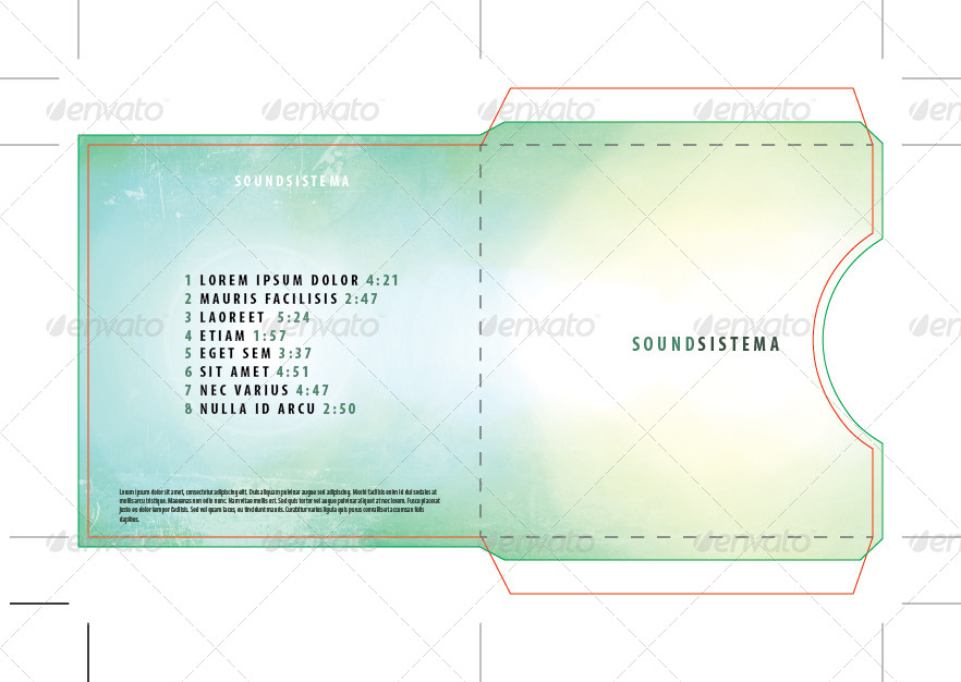 single cd dvd disc sleeve template by centmillionaire graphicriver