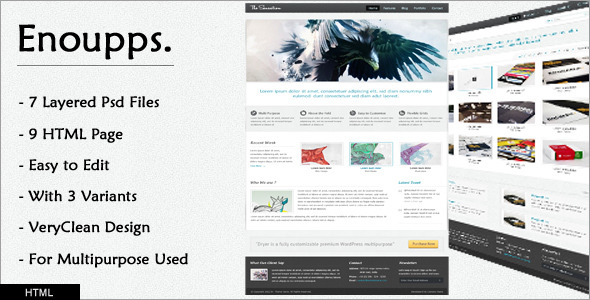 Enoupps - Business oriented HTML template