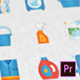 Cleaning & Washing Modern Flat Animated Icons - Mogrt - VideoHive Item for Sale
