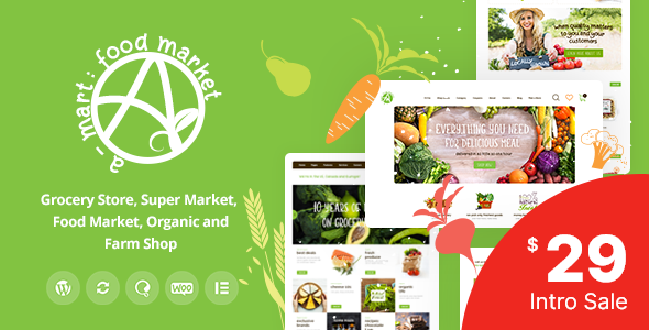 Download A-Mart - Organic Products Shop WordPress Theme }}