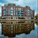 Modern apartment building house with reflection - PhotoDune Item for Sale