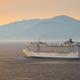 Cruise ship in Aegean sea on sunset - PhotoDune Item for Sale