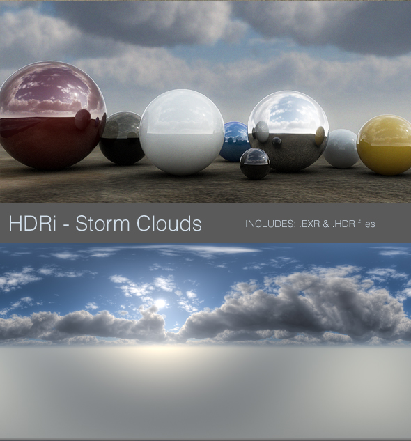 HDRi - Storm Clouds - 3DOcean Item for Sale