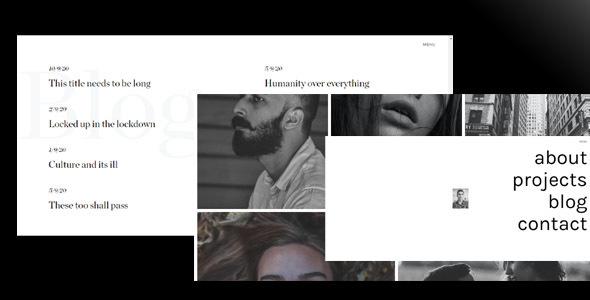Shein - Minimal Portfolio HTML Template