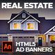 Real Estate Multi-Purpose AD BANNER | Adobe Animate CC