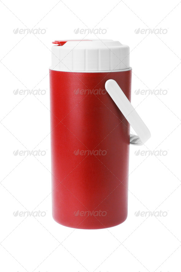 Red Plastic flask - Stock Photo - Images