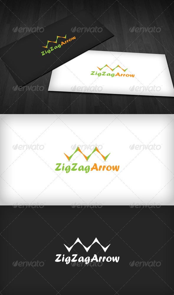 ZigZag Arrow Logo - Vector Abstract