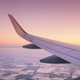 Aircraft wing and sky. Air transport. - PhotoDune Item for Sale