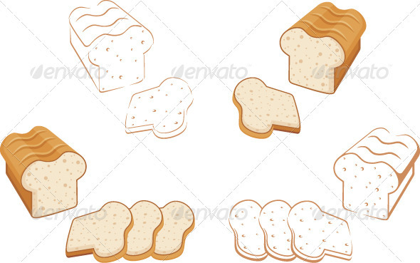 Set of bread - Food Objects