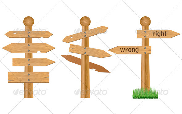 Wooden crossroad signs - Retail Commercial / Shopping