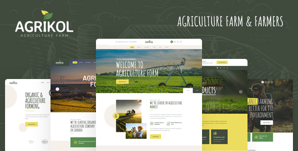 Excellent Agrikol - HTML Template For Agriculture Farm & Farmers