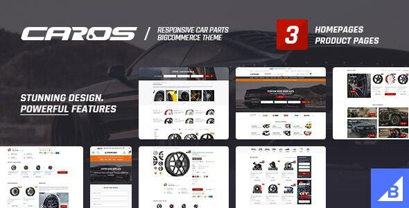 CAROS – Cars & Auto Parts Automotive BigCommerce Theme (Stencil Ready)