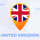 United Kingdom of Great Britain Map - United Kingdom Travel Map - VideoHive Item for Sale