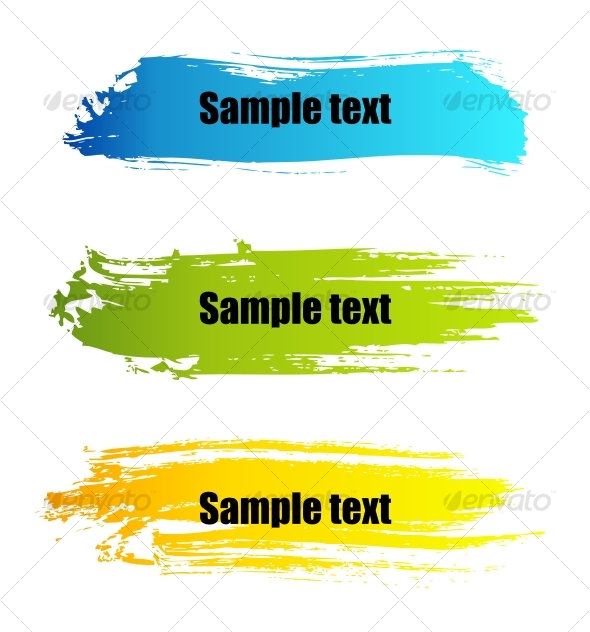 Color paint grunge banners - Abstract Conceptual