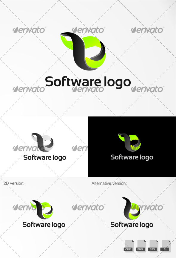 Software Logo - 3d Abstract