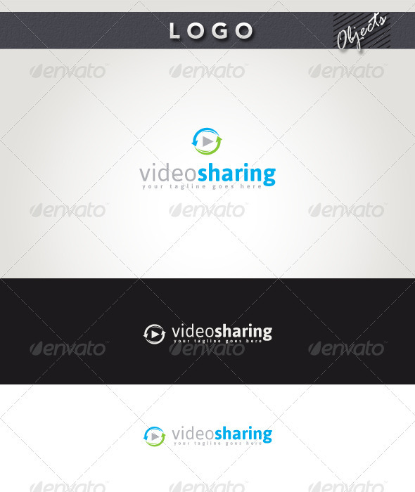 Video Sharing Logo - Objects Logo Templates