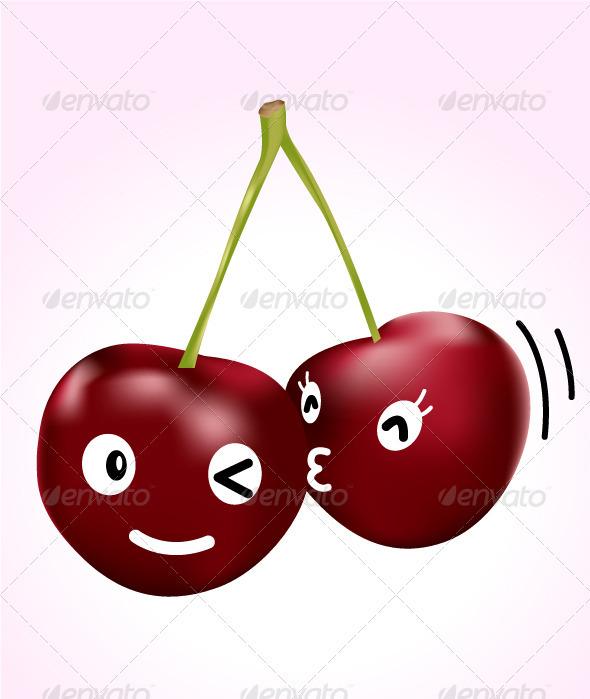 Cherry Kiss - Conceptual Vectors
