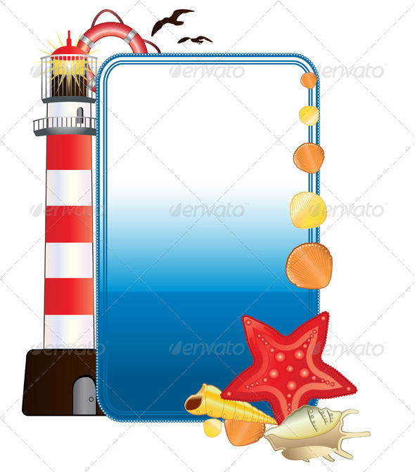 Sea postcard with lighthouse - Travel Conceptual