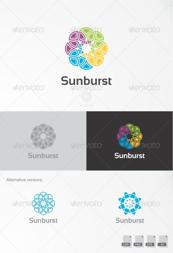 Sunburst  - Nature Logo Templates