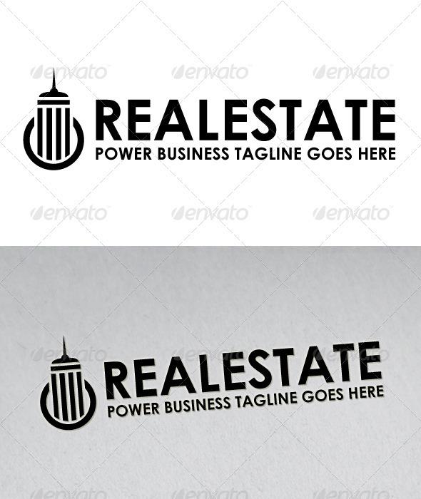 Power Real Estate Logo - Buildings Logo Templates