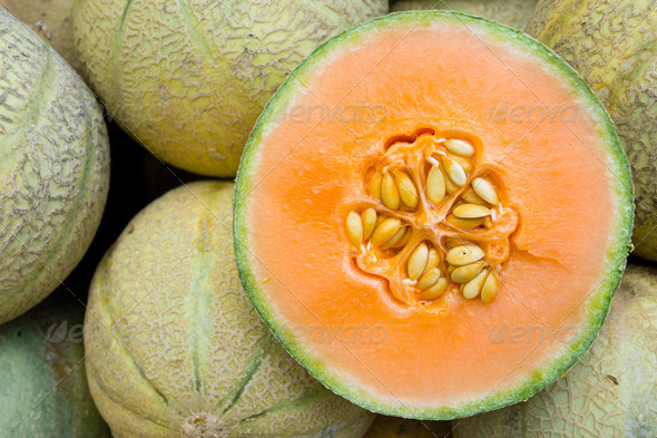 Honeydew melons - Stock Photo - Images