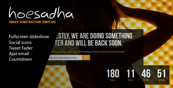 Hoesadha – Fullscreen Under Construction Template