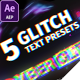 5 Glitch Title Presets - VideoHive Item for Sale
