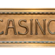 Isolated Brass Sign For A Luxury Casino - PhotoDune Item for Sale