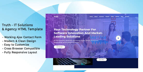 Truth - IT Solutions & Agency HTML Template