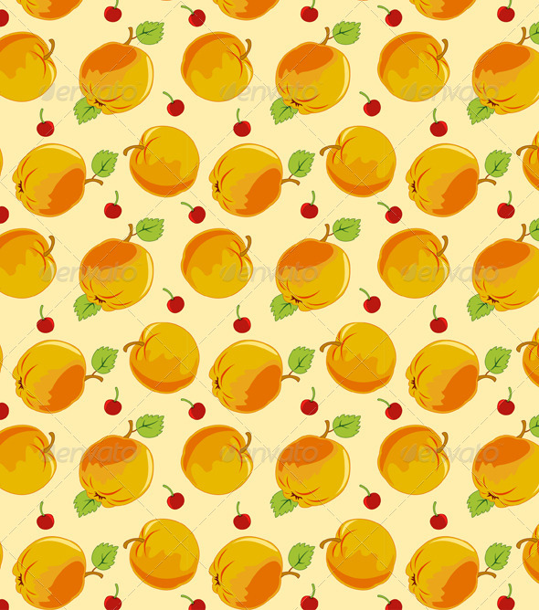 Seamless Pattern with Apple - Patterns Decorative