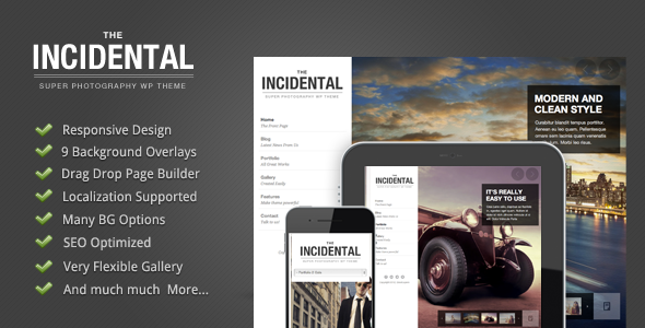 Incidental – High Class Photography WP Theme