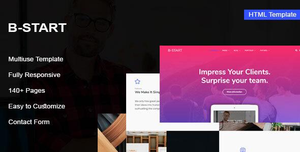 B-Start - Startup HTML Template