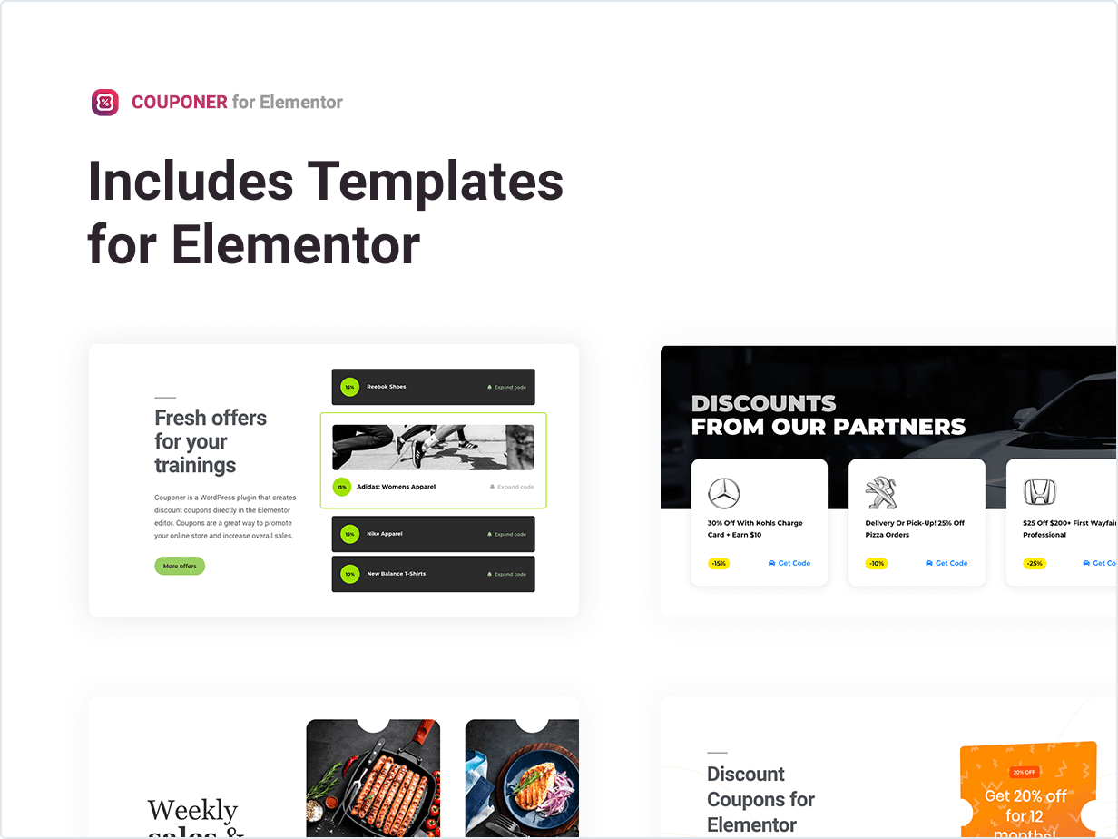 Couponer – Discount Coupons for Elementor by merkulove   CodeCanyon