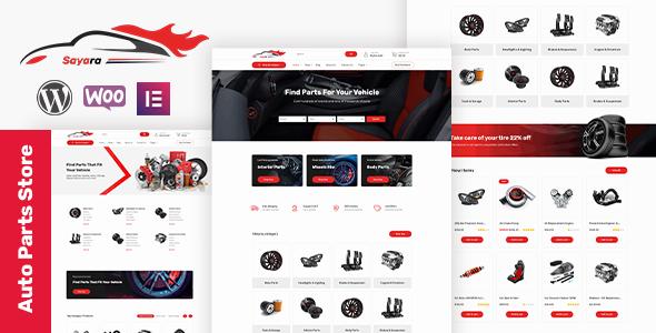 Sayara -  Auto Parts Store WordPress Theme