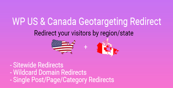 WP US&Canada State Geotargeting Redirect