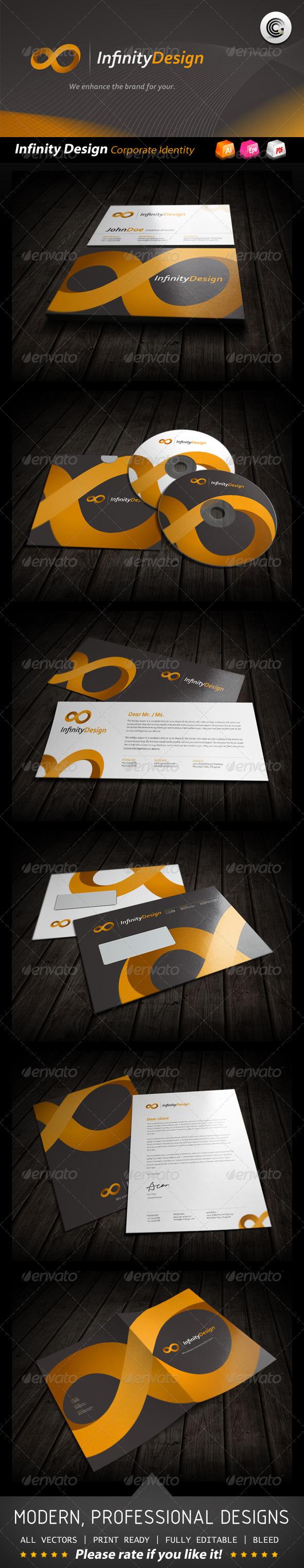 Infinity Design Corporate Identity - Stationery Print Templates