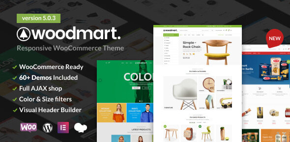 WoodMart - Responsive WooCommerce WordPress Theme Nulled