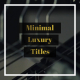 Minimal Luxury Titles - VideoHive Item for Sale