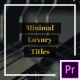 Minimal Luxury Titles | Essential Graphics - VideoHive Item for Sale