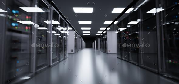 Server room, modern data center. - Stock Photo - Images
