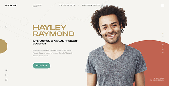 Hayley - Personal CV/Resume WordPress Theme