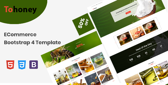 Special Tohoney - eCommerce Bootstrap 4 Template