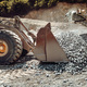 Wheel loader machine unloading rocks in the open pit mine and ore quarry - PhotoDune Item for Sale